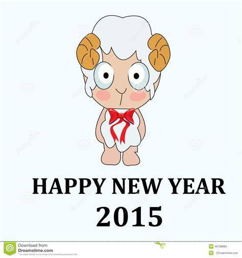 new year sheep images 2015 new year card with sheep stock illustration image