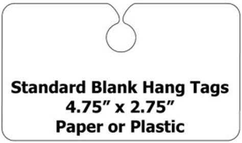 Blank Hang Tags Paper Or Plastic Hang Tags For Cars Rear View Mirror Hang Tag Template