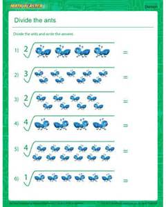 divide the ants simple division worksheet for new