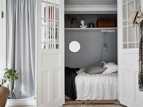 hidden bedroom home tour a swedish apartment with a hidden bedroom