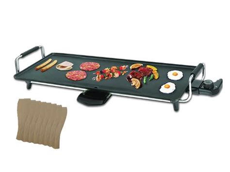 electric teppanyaki table top grill griddle bbq barbecue w