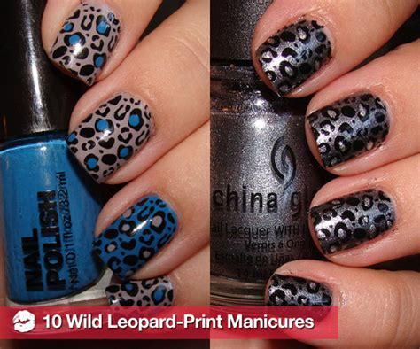 leopard pattern nail art how to get leopard print nail art popsugar beauty