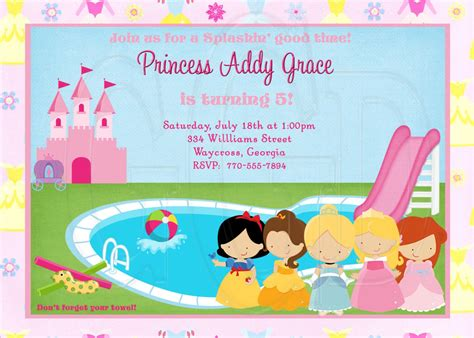invitation princess birthday party best party ideas