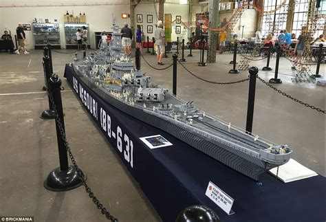 sw man jet boat man building world s biggest lego model of uss missouri