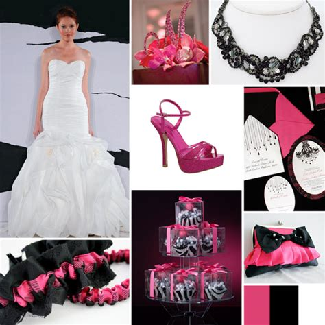 Pink And Black Wedding Ideas by Pink And Black Wedding Ideas On Black Weddings