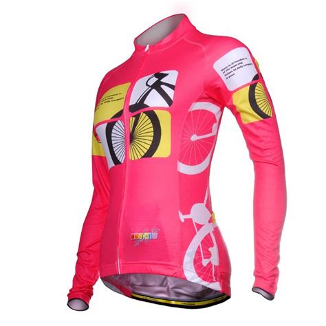 best road cycling jacket womens long sleeve cycling jacket pink road bike bicyle