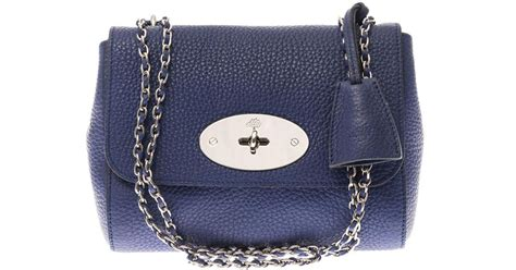 20683 Blue Shoulder Bag 3 In 1 lyst mulberry leather shoulder bag in blue