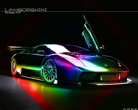rainbow chrome lamborghini lamborghini murcielago rainbow cars