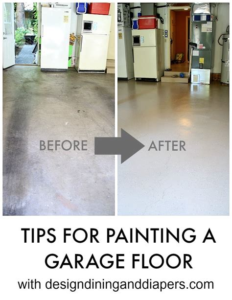 painting a concrete garage floor