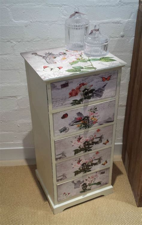 Decoupage Bedside Table - 17 best images about bedroom furniture upcycling on