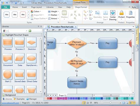 flowchart software microsoft edraw max professional diagram and communicate with