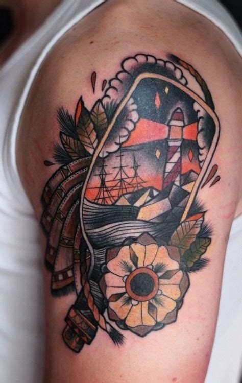 nautical themed tattoos 21 best traditional bottle images on