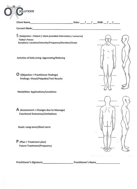 chiropractic narrative report template soap chart treatment protocols for therapy
