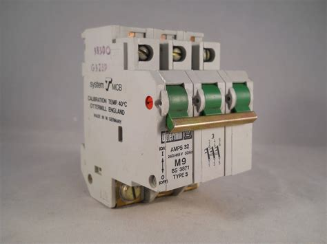 Mcb 32 A 3 Phase ottermill mcb 32 pole 3 phase breaker type 3