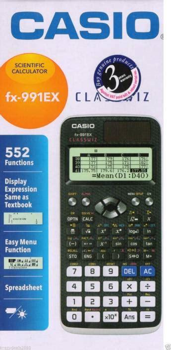 Calculator Casio Dh 16 Ori flipkart casio fx 991 ex scientific calculator scientific