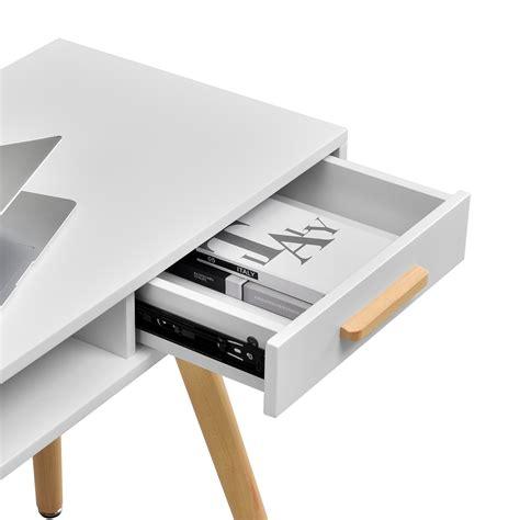 schreibtisch holzbeine en casa 174 retro schreibtisch stuhl wei 223 computertisch