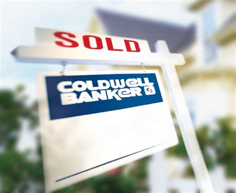 sold coldwell banker yard sign coldwell banker blue matter