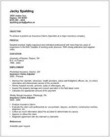 Claims Examiner Sle Resume by Insurance Claim Adjuster Resume Objective