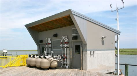 pump house dignitaries help dedicate vims new eastern shore seawater lab virginia institute