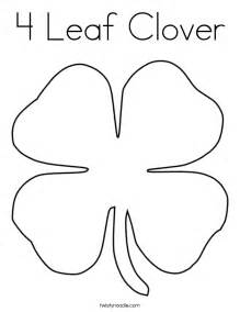 4 leaf clover coloring free coloring pages art coloring pages