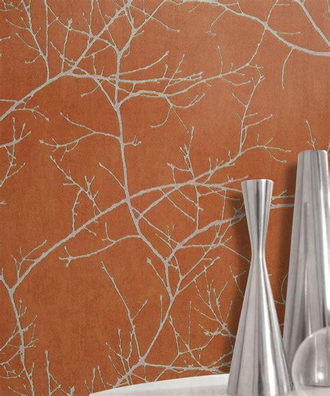 Tapisserie Orange by Papier Peint Walid Orange Intiss 233 Casadeco