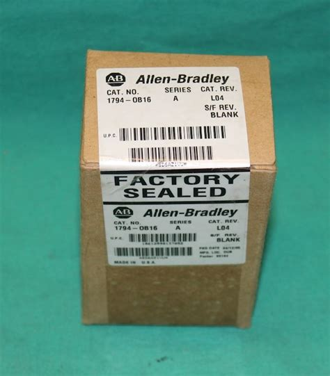 Allen Bradley 1794 Ob16 allen bradley 1794 ob16 output module ser a new
