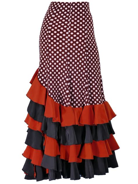 Mermaid Polka Skirt mermaid flamenco polka dots skirt with frills brown g1994br flamenco mercado