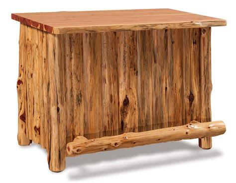 Rustic Log Furniture by Amish Rustic Cedar Log Furniture Bar