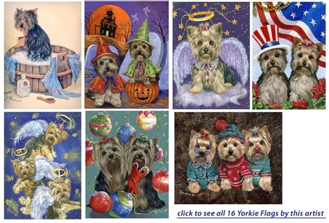 yorkie house terrier flags garden decor