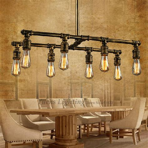 industrial pipe light fixture loft industrial pipe pendant lights silk retro style cafe