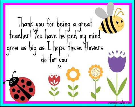 thank you cards template for teachers thank you quotes from students quotesgram