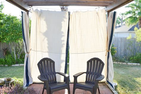 no sew outdoor curtains budget friendly and no sew diy outdoor curtains table