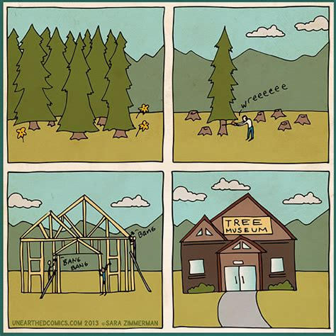 comic tree environmental about deforestation and trees