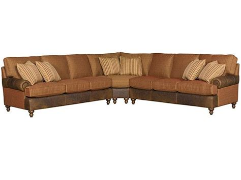 leather and fabric sectional king hickory living room chatham leather fabric sectional