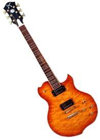 Minarik Lotus Minarik Lotus Single Cutaway Electric Guitar With Quilted