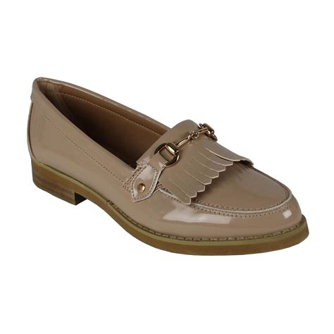 work loafers womens flat casual loafers office work school buckle