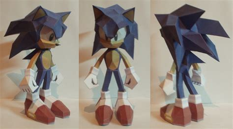 How To Make Paper Sonic - sonic papercraft by 3dpapert on deviantart