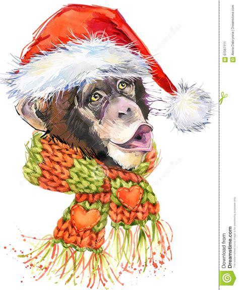 monkey santa new year monkey santa clause graphics monkey chimpanzee