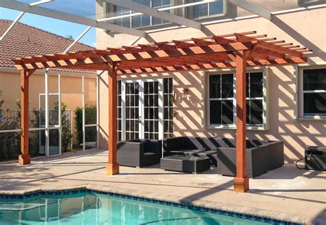 attached pergola kits attached garden pergola kits built to last decades forever redwood
