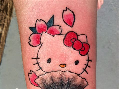 hello kitty bow tattoo images designs