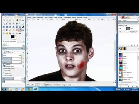 gimp tutorials youtube basics tutorial gimp efecto zombie dark maquillaje youtube