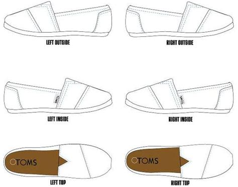 shoe templates for photoshop template toms pinterest painted toms kid and toms
