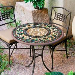 Mosaic Bistro Table Set Knf Garden Designs 30 Quot Iron Mosaic Bistro Set For 2 30set2