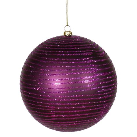 plum colored christmas balls vickerman 239698 8 quot plum matte glitter tree ornament m115826 elightbulbs