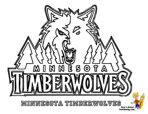 printable coloring pages nba team logos excellent minnesota timberwolves basketball at coloring