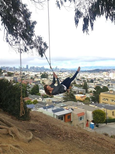 san francisco swing rope swing at billy goat hill exploring san francisco