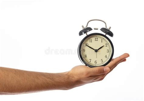 alarm clock  clipping path stock photo image