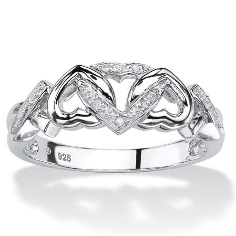 palmbeach jewelry accent platinum 925 silver
