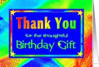 thank you cards for birthday gift from greeting card universe