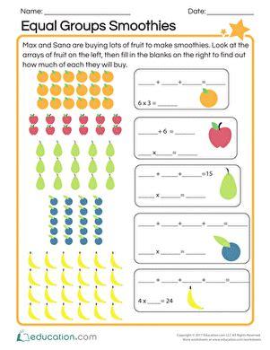 Equal Groups Worksheets 2nd Grade
